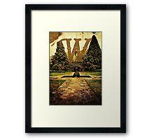 Grungy Melbourne Australia Alphabet Letter W Pioneer Women's Memorial Garden Framed Print