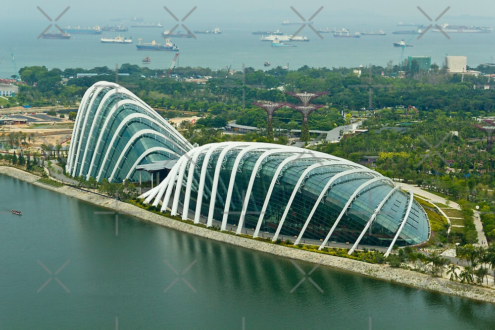 Domes inside the Gardens by the Bay in Singapore by ashishagarwal74