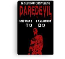 Daredevil Forgiveness  Canvas Print