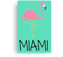 Miami (flamingo) Canvas Print