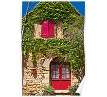 Colourful house in the Dordogne, France Poster