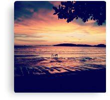 Sunset over Ao Nang Beach, Krabi Thailand Canvas Print