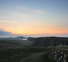 Hadrian's Wall at Steel Rigg by Joan Thirlaway