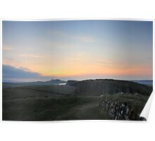 Hadrian's Wall at Steel Rigg Poster