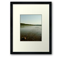 A Stone and His River Framed Print