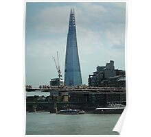 The Shard ( with Millenium Bridge ) Poster