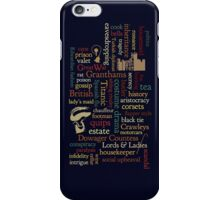 Downton Abbey Word Mosaic iPhone Case/Skin