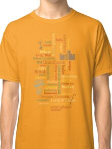 Downton Abbey Word Mosaic Classic T-Shirt