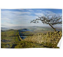 Hadrian's Wall Path on Winshields Crag Poster
