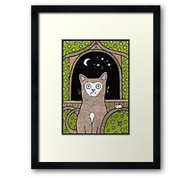 The Moon at my Window Framed Print