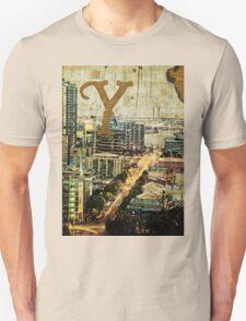 Grungy Melbourne Australia Alphabet Letter Y Yarra River T-Shirt