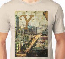 Grungy Melbourne Australia Alphabet Letter Y Yarra River Unisex T-Shirt