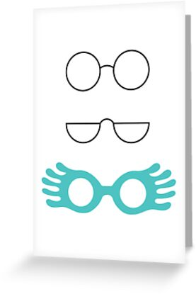 Glasses from Harry Potter - Turquoise by freebooksy
