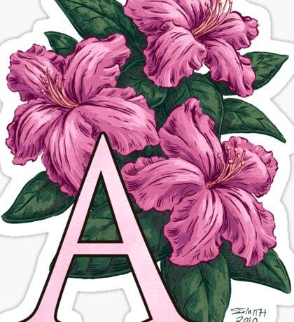 A is for Azalea - full image Sticker