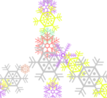 """Peace Sign """"Christmas Peace Sign"""" Snowflakes Sticker"""