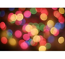 Colourful bokeh  Photographic Print