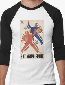 Vintage poster - Eat more fruit Men's Baseball ¾ T-Shirt
