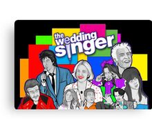 the Wedding Singer character collage Canvas Print