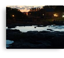 Dawn Above The Sioux Falls Canvas Print