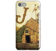 "Grungy Melbourne Australia Alphabet Letter ""J"" James Cook iPhone Case/Skin"