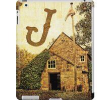 "Grungy Melbourne Australia Alphabet Letter ""J"" James Cook iPad Case/Skin"