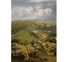 Corfe Castle Photographic Print