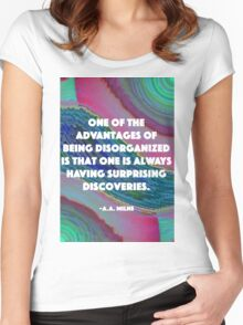 Being Disorganized  Women's Fitted Scoop T-Shirt