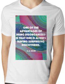 Being Disorganized  Mens V-Neck T-Shirt