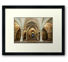 The Crypt: Rochester Cathedral Framed Print