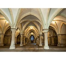 The Crypt: Rochester Cathedral Photographic Print