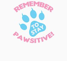 Stay Pawsitive Womens Fitted T-Shirt