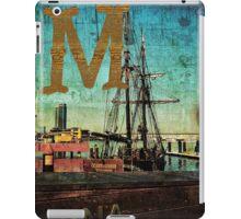 Grungy Melbourne Australia Alphabet Letter M Marina Docklands iPad Case/Skin