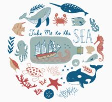 Take Me to the Sea Kids Tee