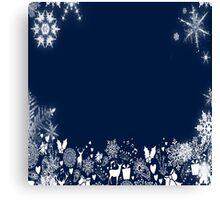 Snow Animals Canvas Print