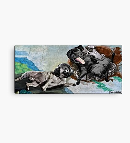 The Creation of Pugs Canvas Print