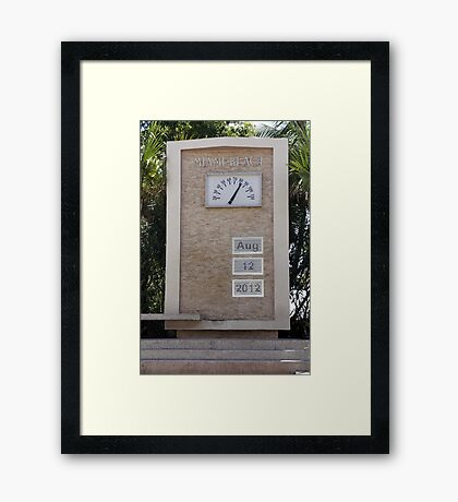 Miami Time Framed Print