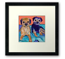 Teddy and Max Framed Print