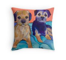 Teddy and Max Throw Pillow