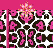The Katy Phone / Fuchsia Fantasy Leopard by Susan R. Wacker