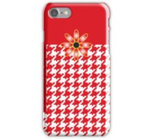 The Katy Phone / Red Hot Houndstooth iPhone Case/Skin