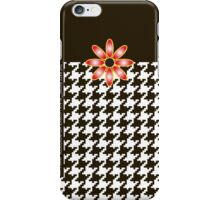 The Katy Phone / Black Licorice Houndstooth iPhone Case/Skin