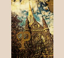 Grungy Melbourne Australia Alphabet Letter P St Patrick's Cathedral Unisex T-Shirt