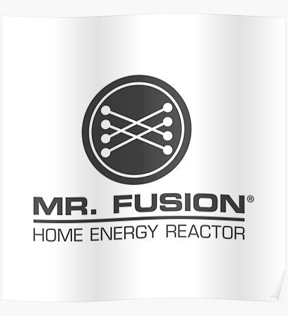 Back to the Future II Mr. Fusion Logo Poster