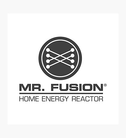 Back to the Future II Mr. Fusion Logo Photographic Print