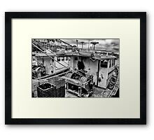 Trawlers in Black and White Framed Print