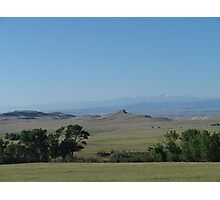 BIG PRAIRIE - BIGGER SKY Photographic Print