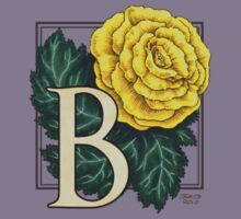 B is for Begonia - patch Kids Tee