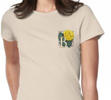 B is for Begonia - patch Womens Fitted T-Shirt