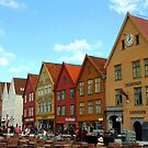 The Bryggen District of Bergen by Laurel Talabere