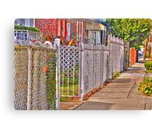 The fences Canvas Print